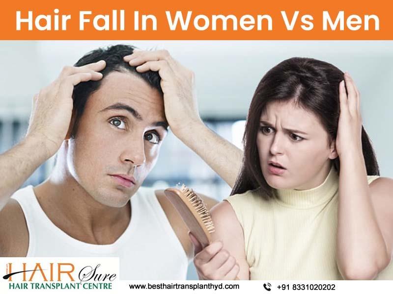 Hair Fall In Women Vs Men