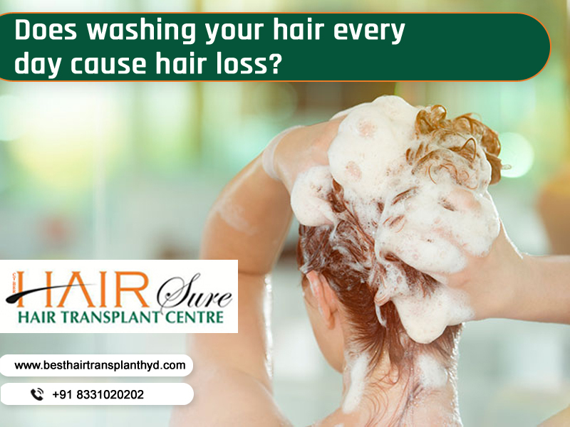 Does washing your hair every day cause hair loss?